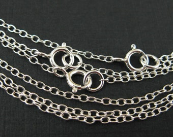 Save 5% - 925 Sterling silver Chain,Necklace - Cable Chain - Finished Necklace for Pendant,Ready to Wear - 16 inches ( 5 pcs) SKU: 601020