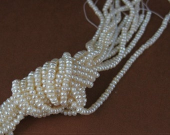 Fresh Water Seed Pearls- Seed Beads- Freshwater Pearls- 2.5-3 mm - Grade A - 15.5 inches - 301030