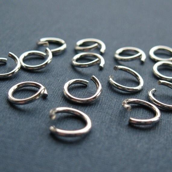 Jump Rings, Jumprings-Sterling Silver Jump Rings,Jumprings - 20 ga,gauge - 4.5mm OD-Jewelry Findings-Sterling Silver Findings ( 20pcs ) JP20
