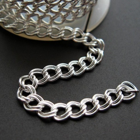 925 Sterling Silver Chain-Unfinished,Bulk Chain-Double Plain Twisted Cable Chain-5 mm(15 feet )30% off-Jewelry Supplies Wholesale-Sku:101036