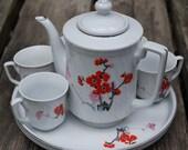 Cherry Blossom Tea Set ---vintage---