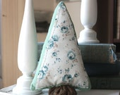 Woodland Fabric Blue Rose Tree, Soft Sculpture