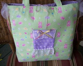 Ballerina Diaper Bag or Tote Bag
