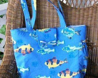 Tropical Fish Diaper or Tote Bag