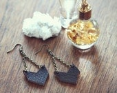 Little Leather Chevron Earrings