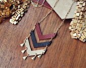 Autumn Triple Chevron Necklace