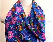 1980 Silk Designer Diane Freis Vintage Deadstock Square Scarf Sparrow and Daisy