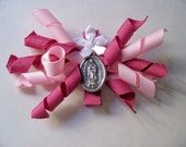 Our Lady of Guadalupe Hair Bow and Holy Card