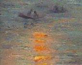 RESERVED Sunset Series 16: Monet's Sunset