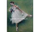Swan Lake Ballet Dancer 5x7 signed,archival print blank card