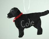 Personalisierte Filz Ornament schwarz Lab, Yellow Lab oder Chocolate Lab Hund gemacht - Filz Hund Ornament bestellen