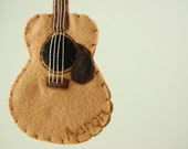 Personalized Acoustic Guitar Felt Ornament - Made to Order