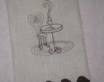Linen Towel with Bistro Chair