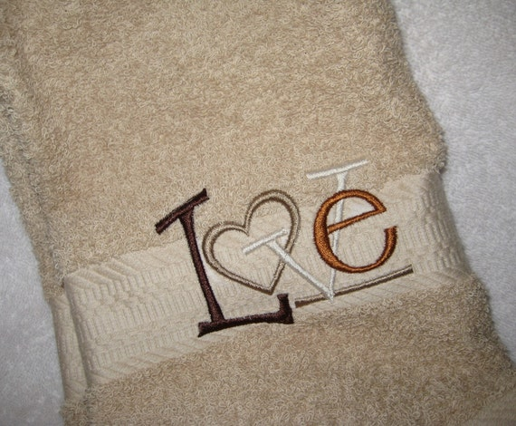 Hand Towel with Love Saying