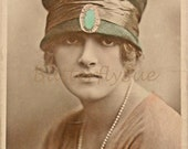 Real Handtinted Photographic Postcard - Gladys Cooper in a Sinamay Toque Hat - Rotary - Unposted - Sale