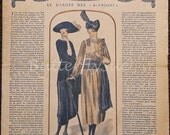 "Art Deco French Fashion Magazine ""La Mode Illustrée"" Fall 1920."