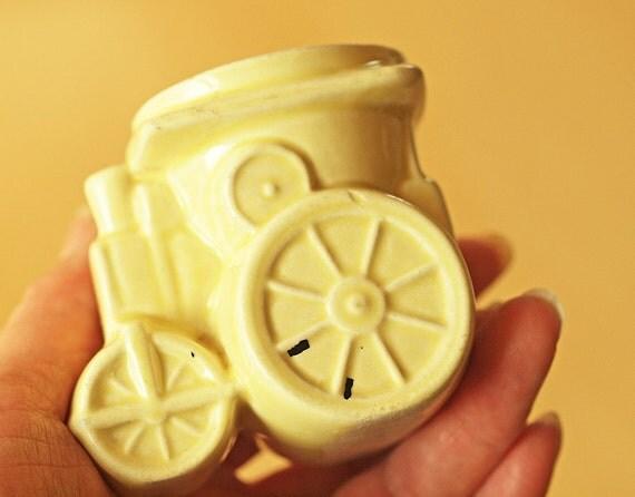 Collectible Novelty Steam Roller Egg Cup -  Art Deco- Children's Egg Cup - Destash