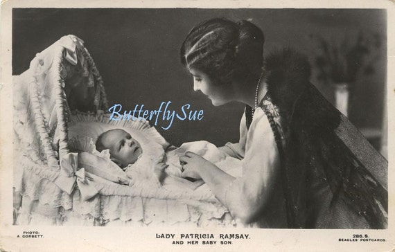 Real Photographic Postcard - Lady Patricia Ramsey And Baby Son- RPPC -1919