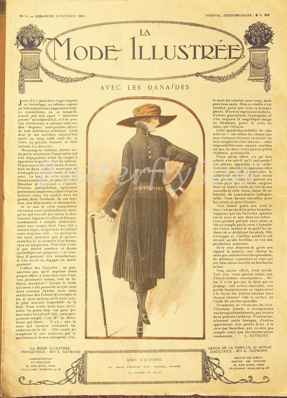 Art Deco French Fashion Magazine La Mode Illustree 10 October