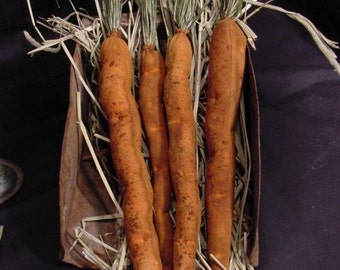 Primitive Carrots Bowl Filler Cupboard Tucks Instant Digital Download E Pattern  ET
