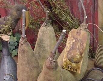 Folk Art Tall Pears Olde Cupboard Tucks Bowl Filler Instant Digital Download Pattern ET