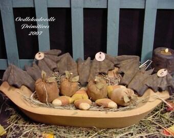 Halloween Bats, Pumpkins, Candy Corn, Tucks Bowl Filler Ornies Instant Digital Download E Pattern ET