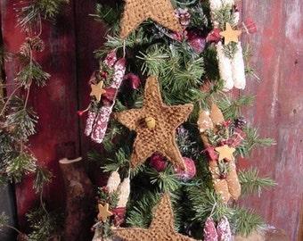 Hanging Christmas Stars and Candle Bundles Ornies, Tucks, Bowl Filler Instant Digital Download  E Pattern ET