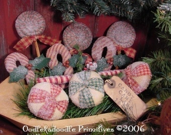 Old Fashion Christmas Candy Ornies Bowl Filler Tucks Instant Digital Download E-Pattern ET
