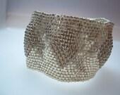Silver\/Gold Puffy Diamond Cuff