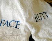 BUTT/FACE Large Bath Towel