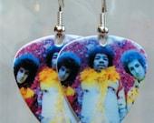 Jimi Hendrix Guitar Pick Earrings. Hendrix Experience