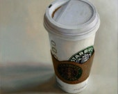 Addiction-Mini 6 X 6 Giclee Starbuck's Still Life