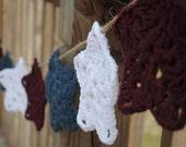 Patriotic Crocheted Star Garland