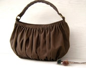 NEW  Bella in Olive green --the drapery bag, so chic, large and elegant everyday purse with zippered closure and single strap--