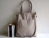 Simply Tote Bag in Khaki - unisex -