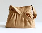 Last One, Mustard Pleated Bag - adjustable strap with ZIPPER closure - Messenger Bag - Diaper Bag - Cross Body Bag - Shoulder Bag - Winter