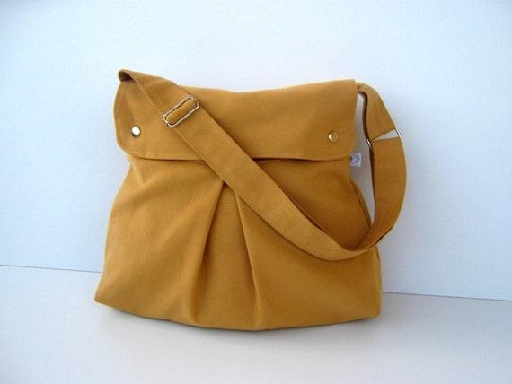 Modular Messenger in Mustard  --with adjustable strap--