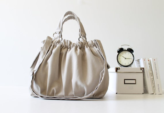LAST ONE - Practical Nagy Bag in Khaki -medium- christmas / for her / for women / tote bag / diaper bag / messenger bag / shoulder bag