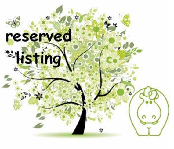 Reserved for Miriam