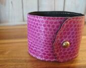 Snakeskin Cuff Bracelet - Lilac Cuff
