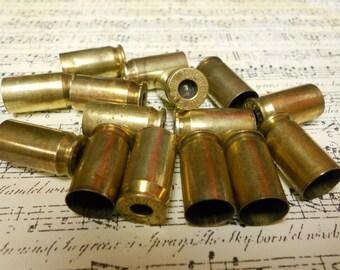 15 brass shell casings 45 caliber primer removed
