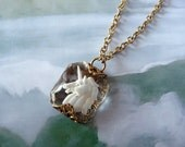 Vintage Intaglio Jewelry - Unicorn Necklace - Horse Necklace - Unicorn Solitaire Pendant (SD0025)