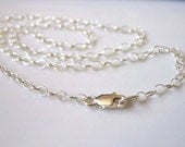 Sterling Silver Chain 18 inch (45cm) Necklace - 2.5mm round cable link