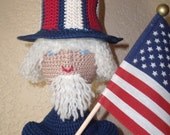 RESERVED FOR DIANEK27  Liberty Sam, patriotic boy, adult collectable art doll with American flag