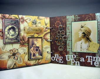 Handmade Vintage Altered Mixed Media Book Free Shipping to US