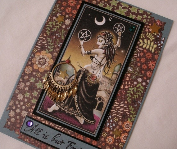 Gypsy Tarot Card Artistic Greeting Card