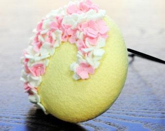 Springtime in Paris Cocktail Hat Hand blocked Felt Mini Hat Millinery Fascinator