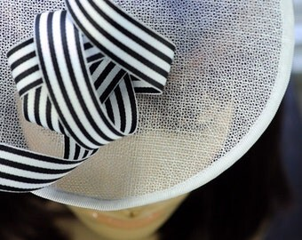 Black and White Cocktail Hat Millinery