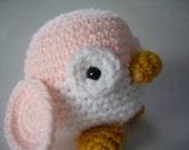 Penguin Stuffed Animal Amigurumi Pink