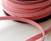 Pink suede cord 6mm- 1 meter